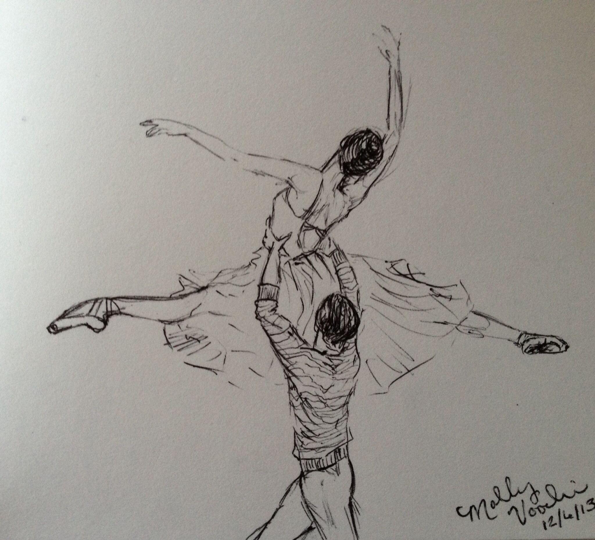 Ballet Partnering Mgv Ballet Art Ballet Drawings Dancing Drawings