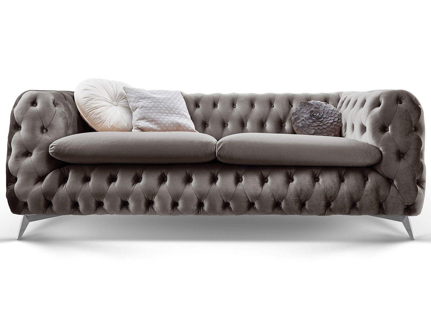 Chesterfield Sofa Couch Stoff Samt 3 Sitzer 2 Sitzer Sessel 1 Sitzer Designer Mobel Emma 3 Sitzer Silber Grau A In 2020 Chesterfield Sofa Sofa Couch Designer Couch