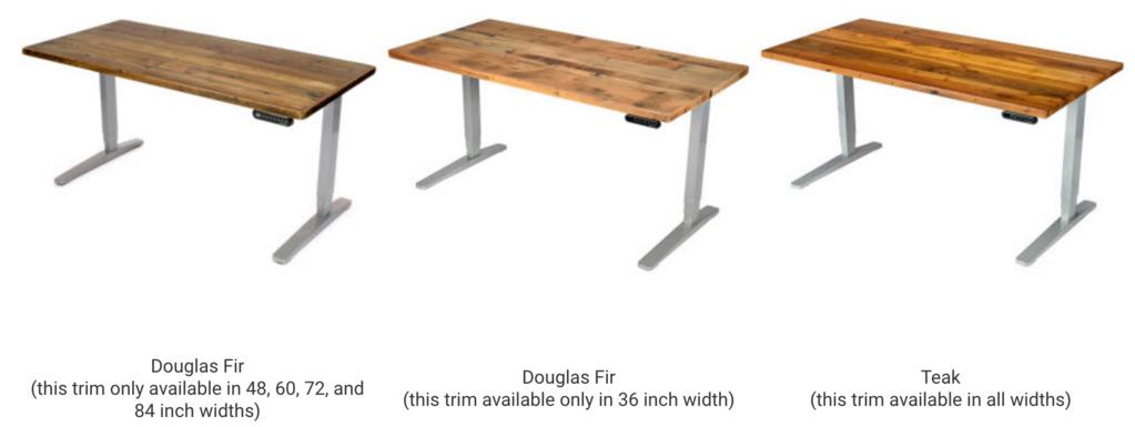 uplift standing desk with reclaimed wood top gaming desk rh pinterest com