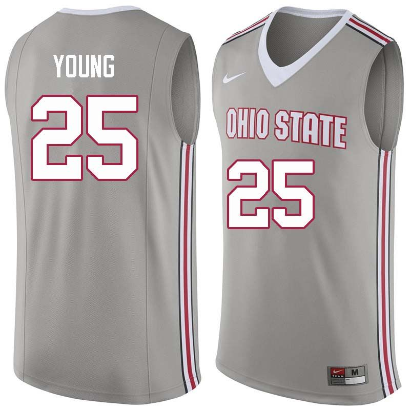 ddd43e1f9 Men  25 Kyle Young Ohio State Buckeyes College Basketball Jerseys Sale-Gray