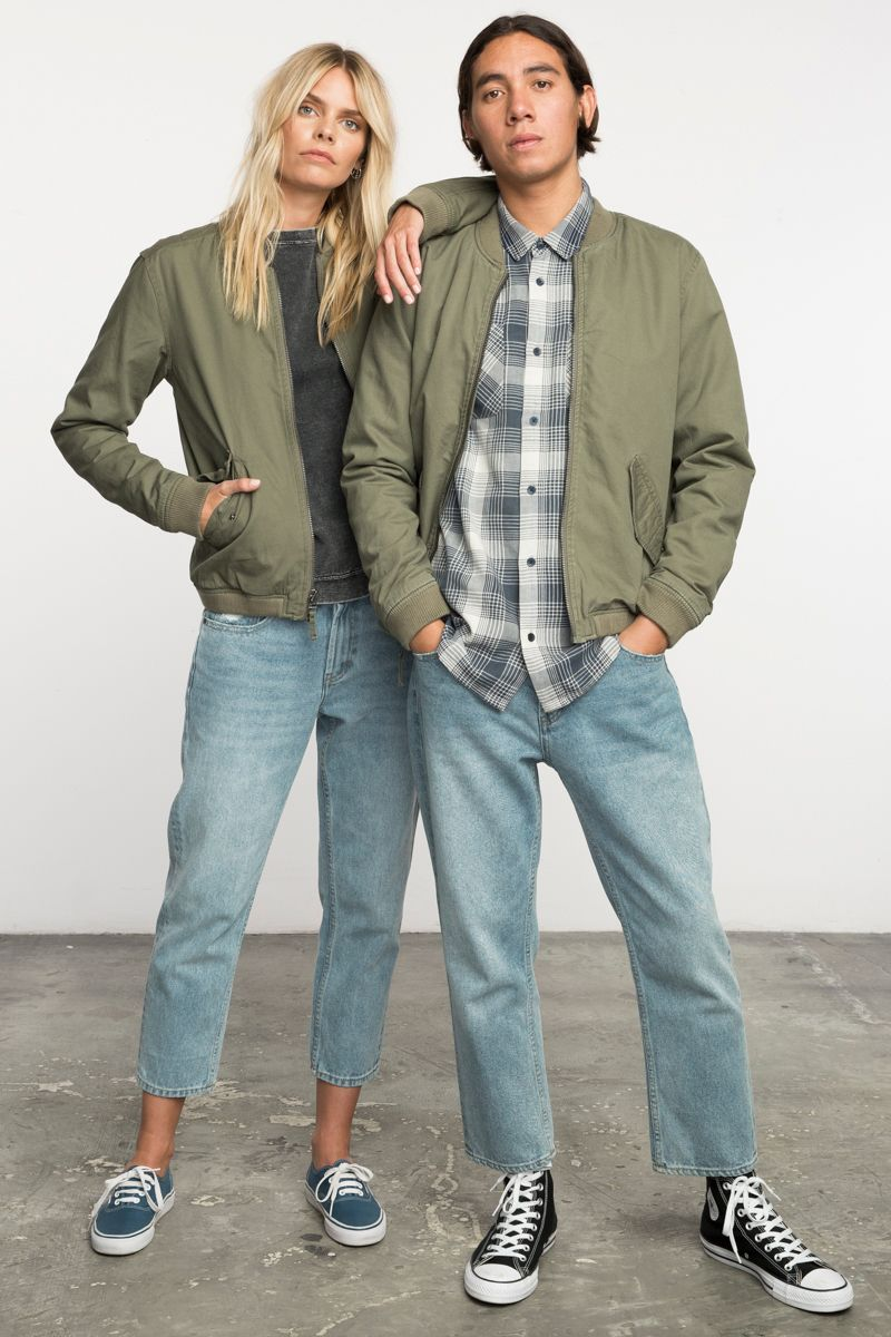 The Rvca Neutral All City Bomber Jacket Is A Unisex Regular Fit Bomber Jacket With Taffeta Onion Quilting Lining And A Light Polyes Bomber Jacket Jackets Rvca [ 1200 x 800 Pixel ]