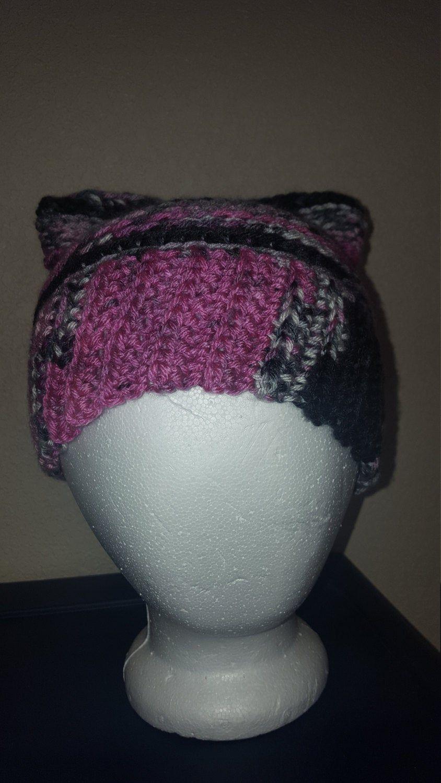 Crochet pattern-Pussycat hats, Pussyhat Project March hat, woman's march, pink pussyhat, girl power, crochet cat hat, pussy hat