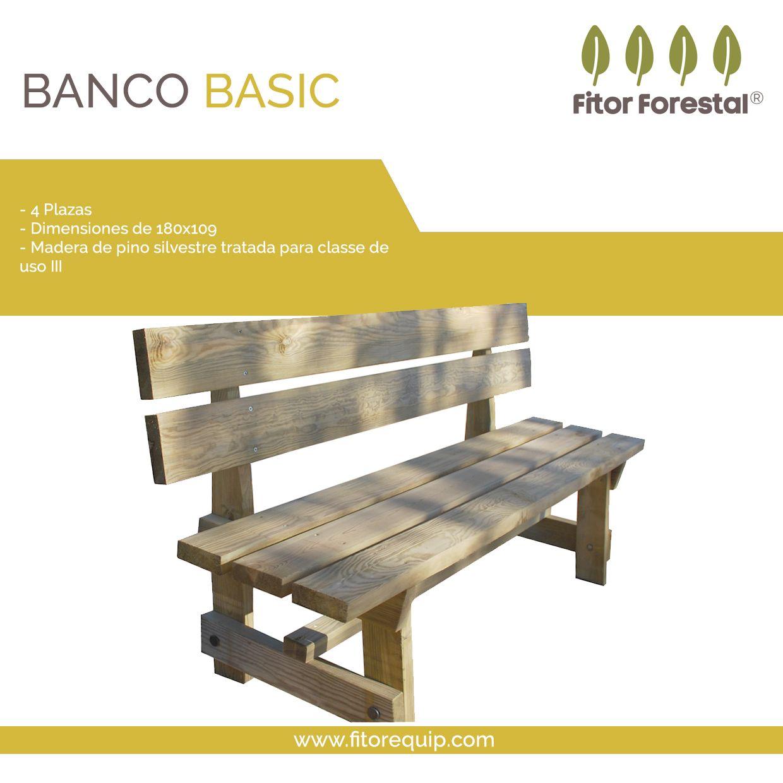 Banco De Madera Para Exterior Gama Basic Bancos Con Una Excelente