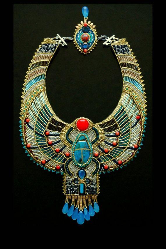L'egypte Collier Plastron AnciennePerle Bijoux De Inspirer oeBdCx