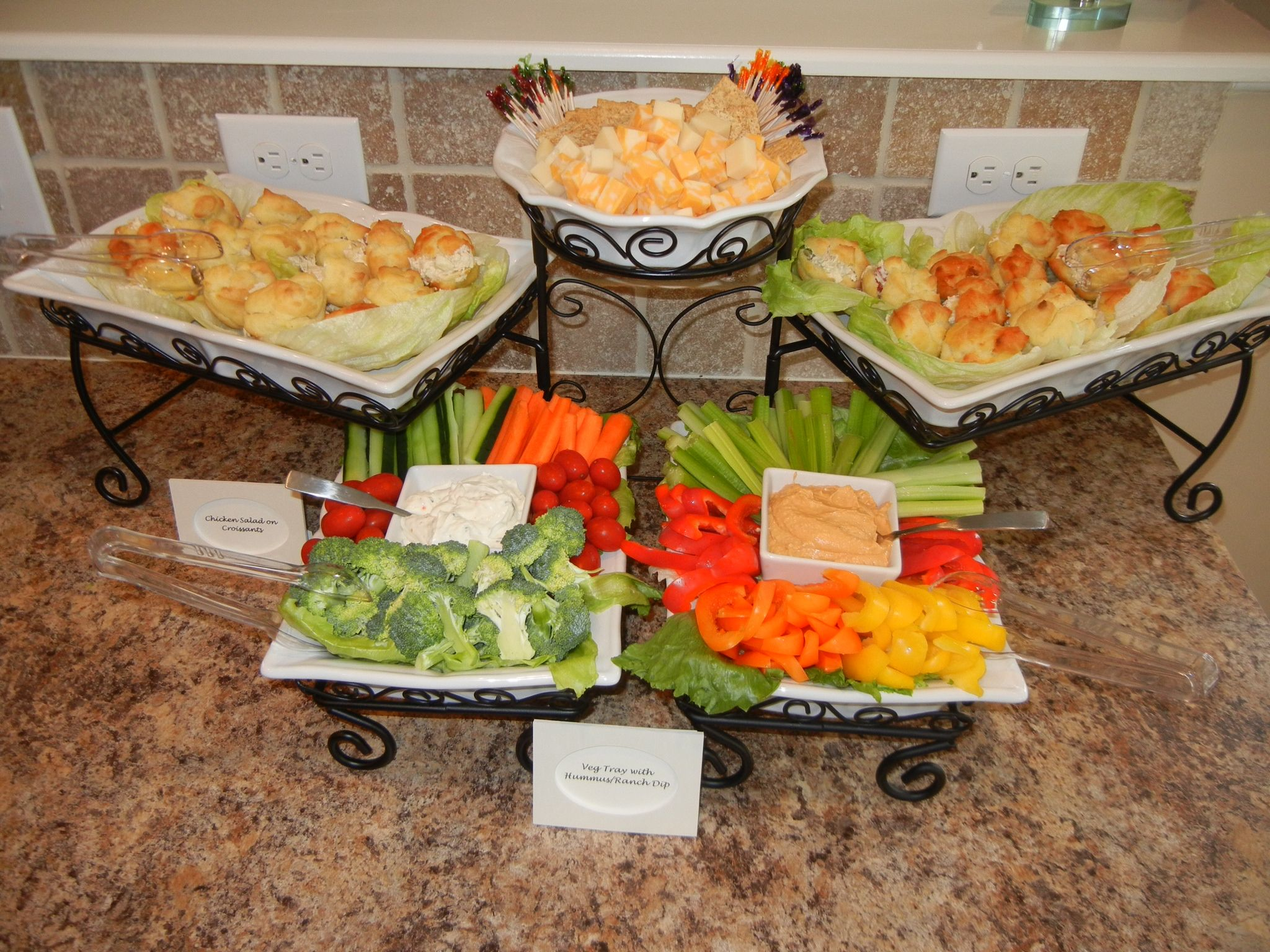baby shower food set up bought server at sams it s awesome sis rh pinterest com