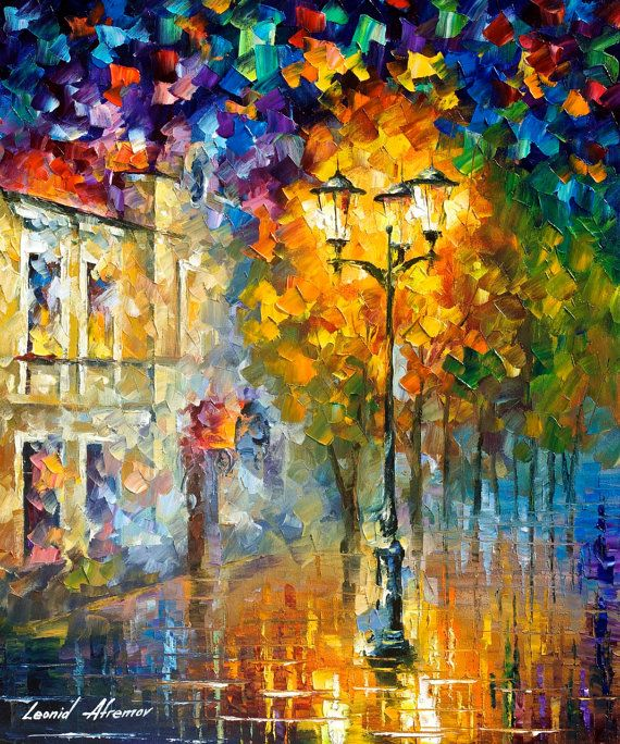 Strong Light — PALETTE KNIFE Oil Painting On Canvas By Leonid Afremov #art #painting #fineart #modernart #canvas