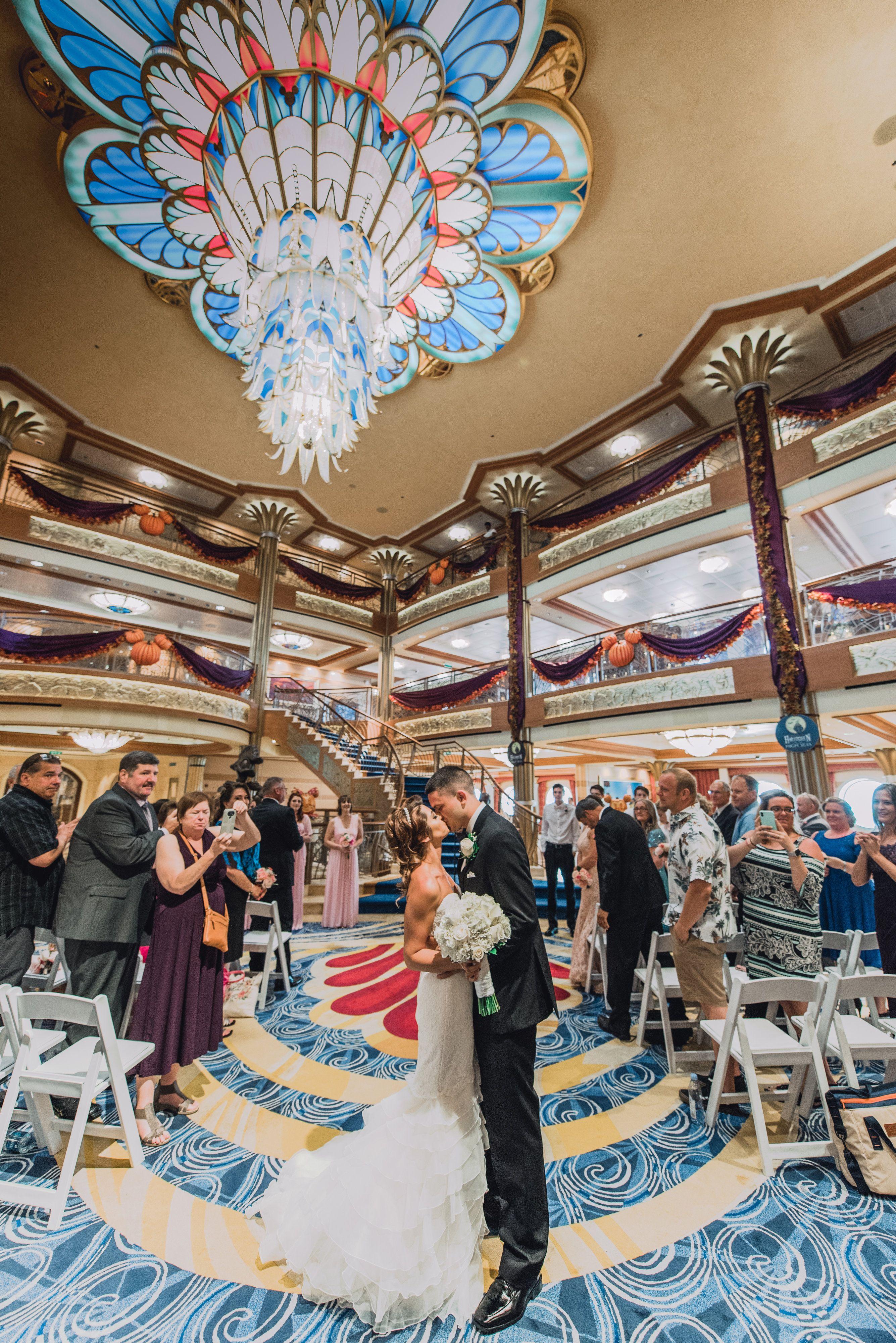 Disney Wedding Aboard The Disney Dream Cruise Ship Disney Cruise Wedding Disney Dream Cruise Disney Dream Cruise Ship