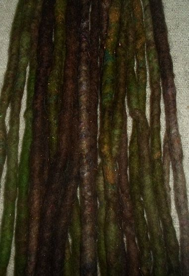 Set Of 10 Wild Brown Dreads Earthy Rust Double Ended Dreadlocks Festival Natural