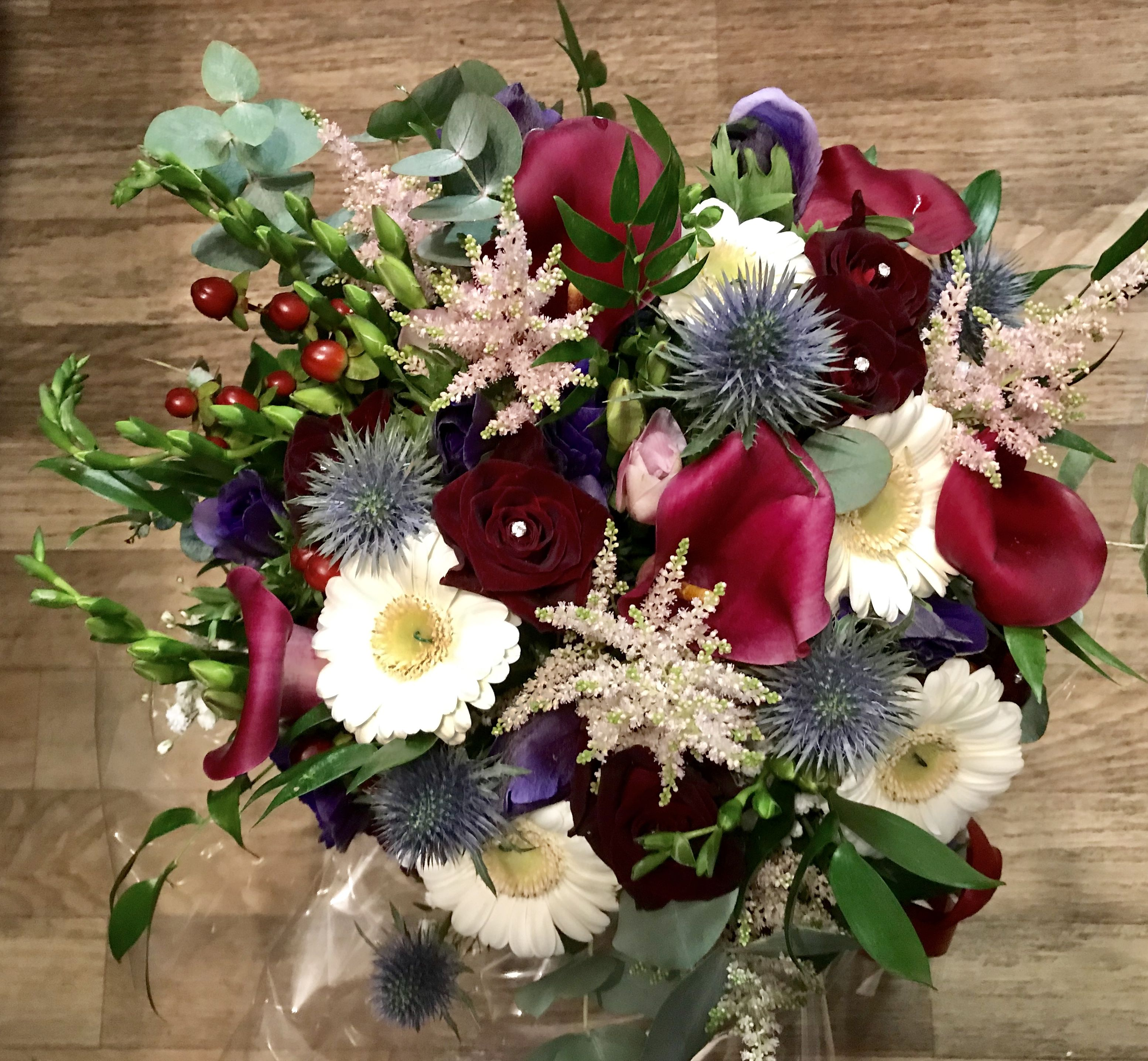 Love the combination and varieties in our bridal bouquet