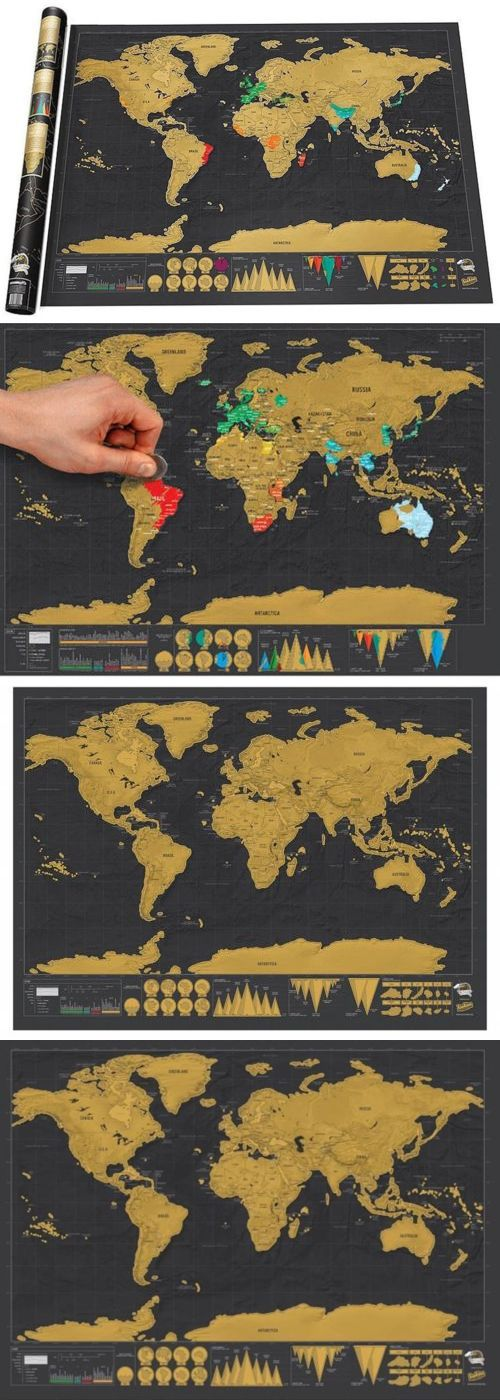 Other Travel Maps 164807 Scratchable World Map