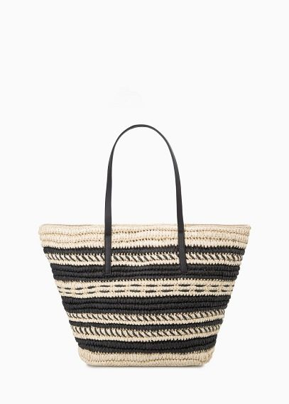 Striped straw bag | MANGO | lovely things to wear / have ...