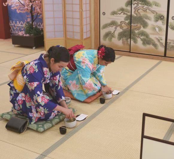 The Japanese Tea Ceremony Workshop provides an engaging induction to the traditional tea ceremony. This activity dates back hundreds of years and is the most idealistic pastime of ancient Japan. #maikoya #maikoyaosaka #osaka #teahouse #Shinsaibashi #namba #japan #japaneseculture #traveljapan #visitjapan #japantravel #kimono #kimonoexperience #kimonorental #kansai #travelblogger #sweetsmaking #nerikiri #teaceremony #japaneseteaceremony #onceinalifetimeopportunity #sadou #chado #greentea #matcha