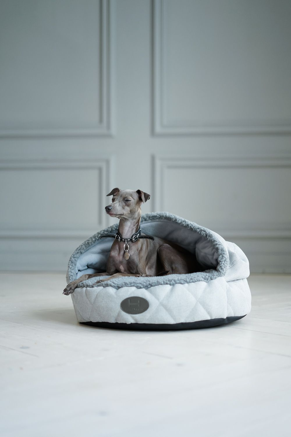 Plush Cave Bed For Dog Bed Cave Snuggly Bedding Italian Greyhound Sleeping Bags Snuggle Bags For Iggy In 2021 Modern Dog Italian Greyhound Pet Safety
