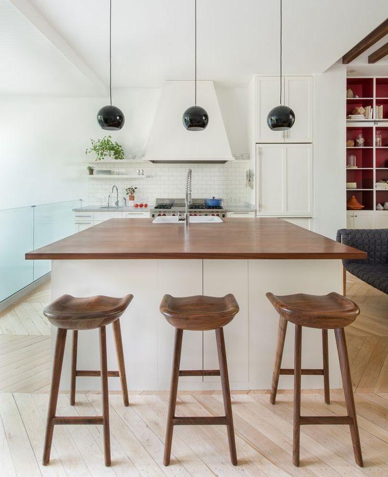 Weiße Küche Holz Arbeitsplatte - Deco Inspirationen #arbeitsplatte - arbeitsplatte holz küche