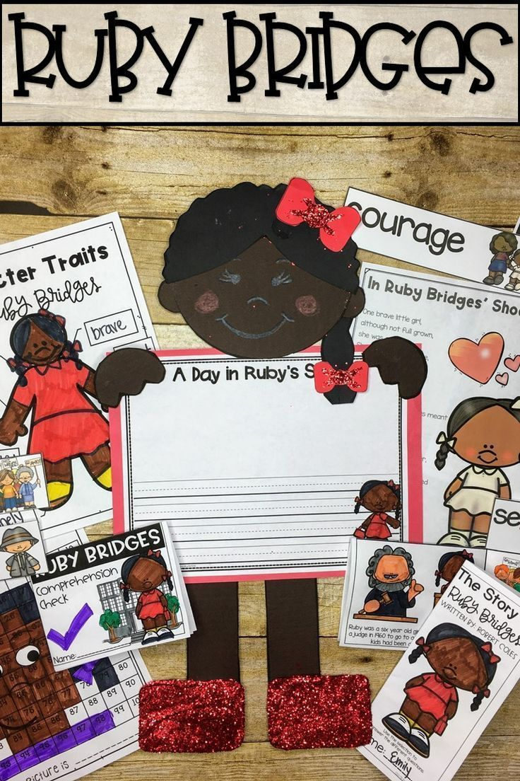 Ruby Bridges Activities. Includes a craft, worksheets