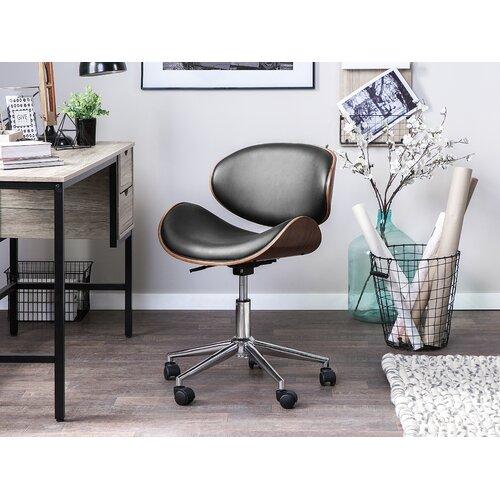 Aella Desk Chair Brayden Studio Colour Upholstery Black