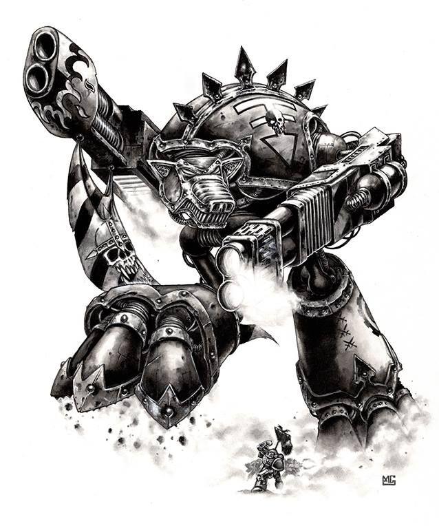 Warhound Titan - Titan Legions By Mark Gibbons