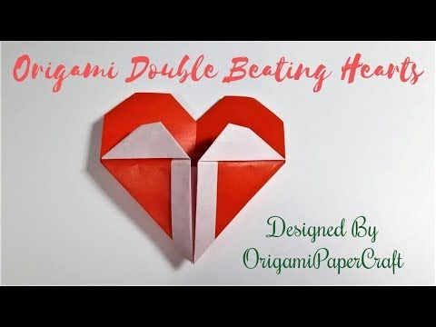 Photo of Origami Heart-Origami Double Beating Hearts – Valentine's Day Origami