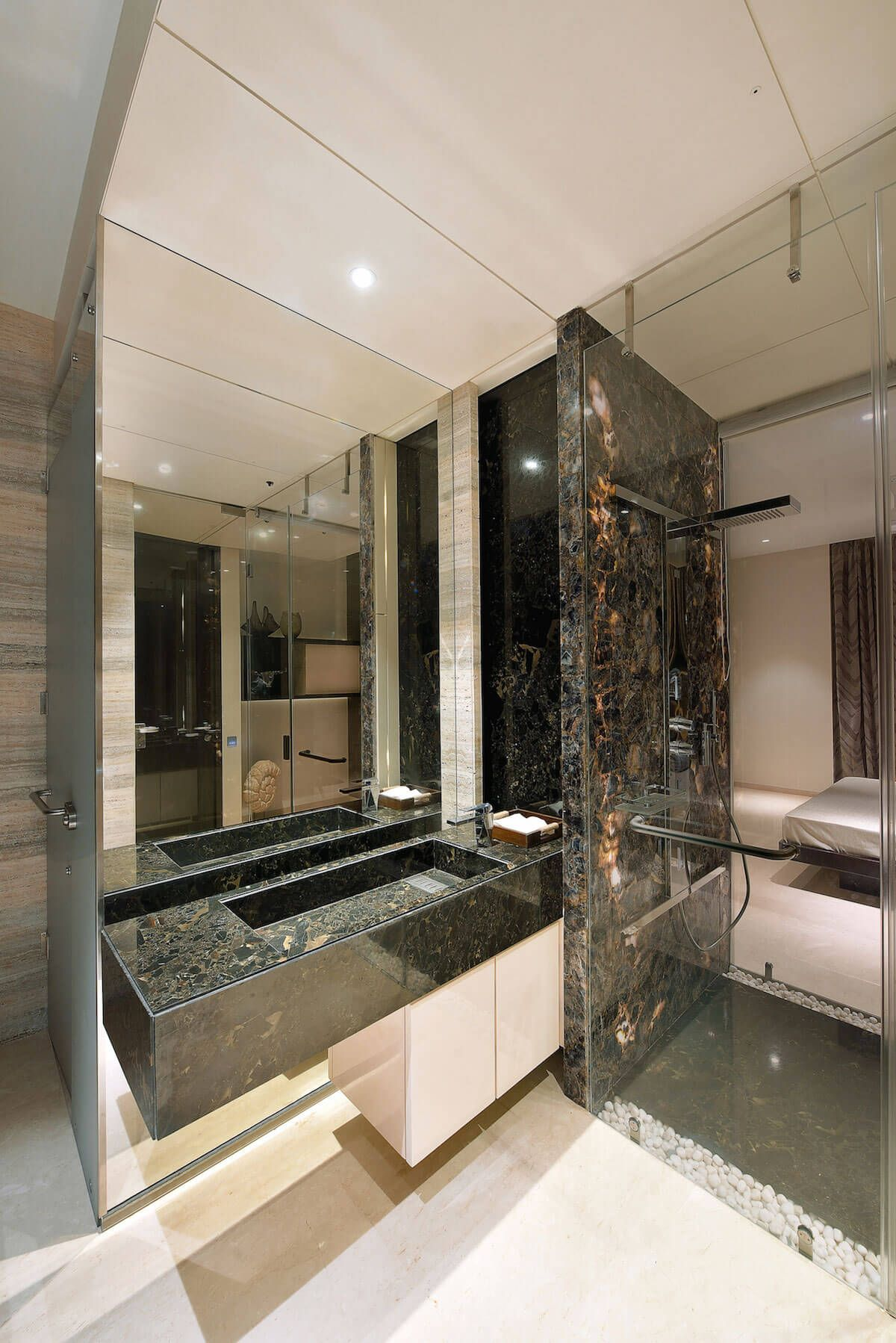 contemporary home in mumbai by space dynamix glamour bathrooms in rh pinterest com