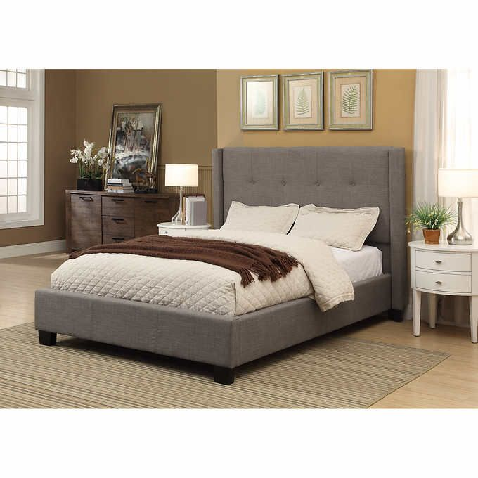 costco macallister cal king upholstered bed for the home rh ar pinterest com