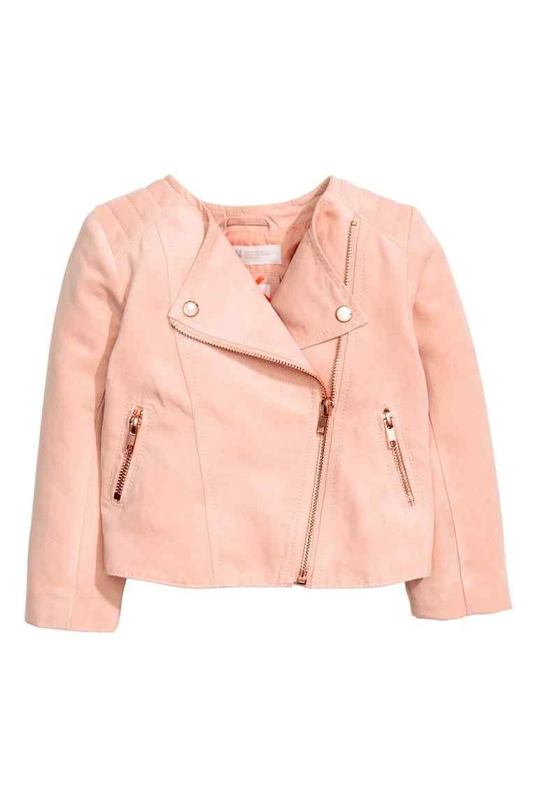 Biker jacket | Pink kids