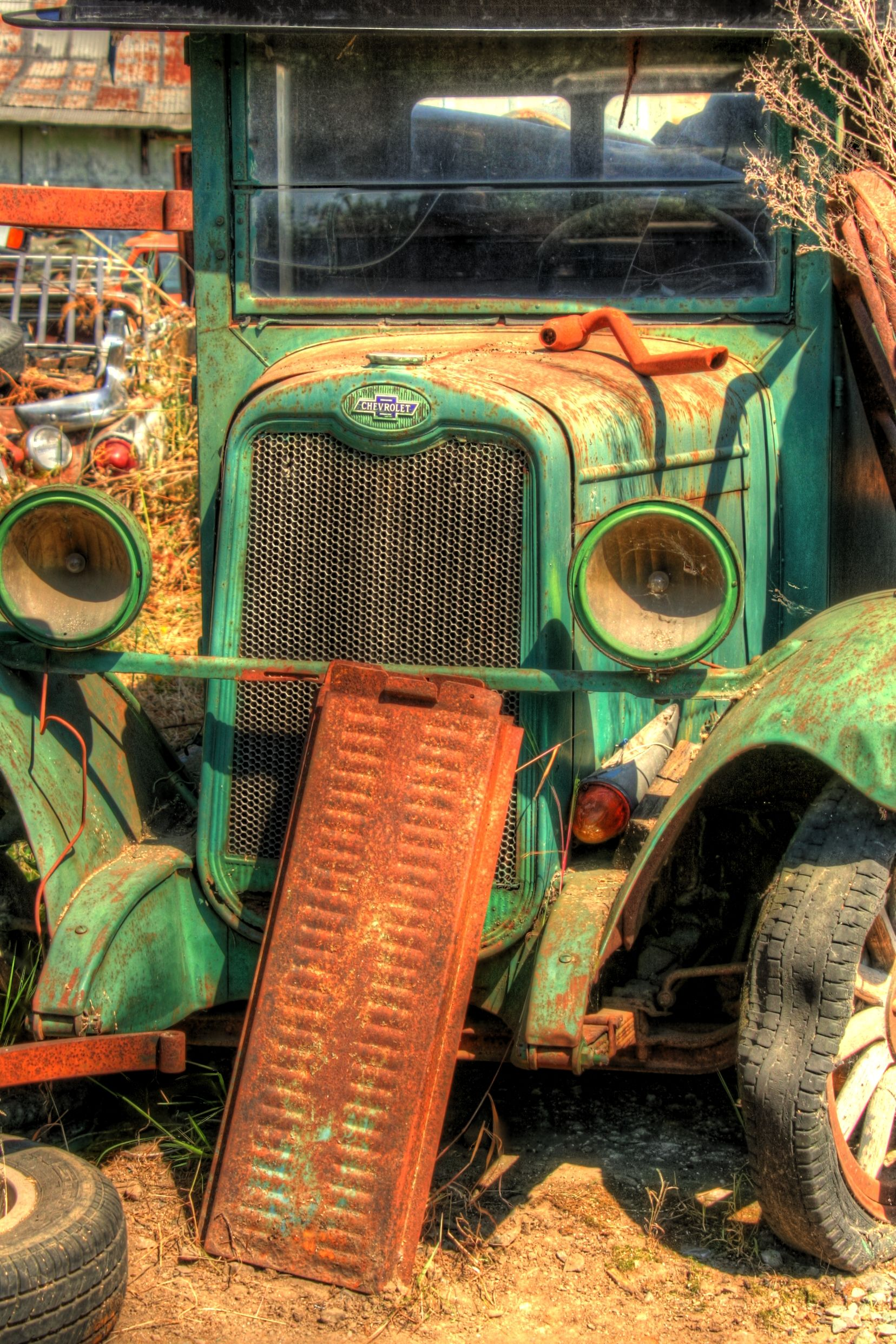 Old Green truck, HDR | Photos I love! | Pinterest | alte Autos ...