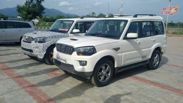 2018 Mahindra Scorpio Facelift Spied Next To The Current