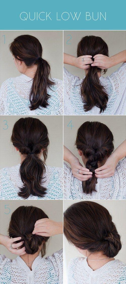 18 No Heat Hairstyles  #Hairstyles #HEAT #simplebunhairstyles #noheathair