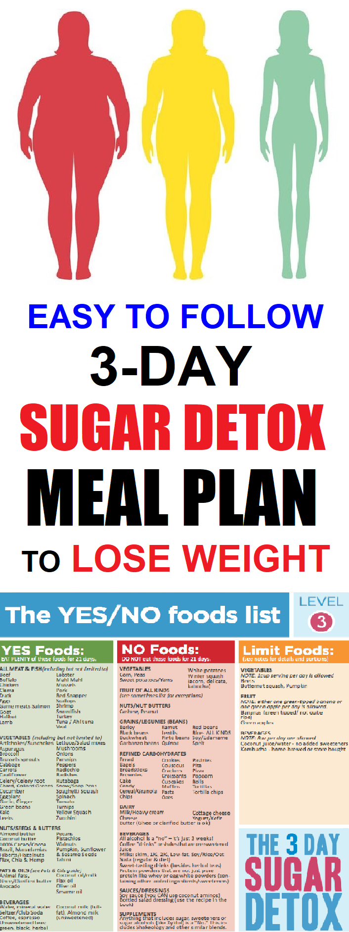 Easy To Follow 3-Day Sugar Detox Meal Plan To Lose Weight #sugardetoxplan sugar detox meal plan #sugardetoxplan Easy To Follow 3-Day Sugar Detox Meal Plan To Lose Weight #sugardetoxplan sugar detox meal plan #sugardetoxplan