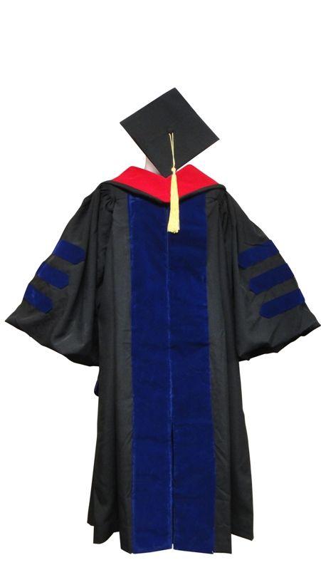 Doctoral Gown, Regular Cap, Tassel and Hood   Graduation Attire ...