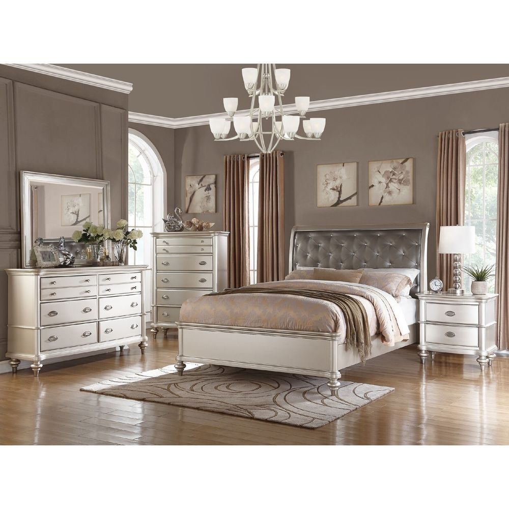 Saveria 5 Piece Bedroom Set Free Shipping Today Overstock Com