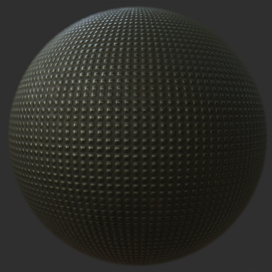 Smoothed Square Textured Metal PBR Material in 2020