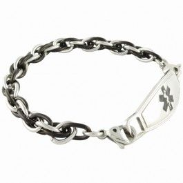 Apollo Chain Medical Alert Bracelet w/Contempo ID by N-Style ID