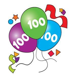 100th Day Printable Clipart   ClipArtHut - Free Clipart ... (300 x 300 Pixel)