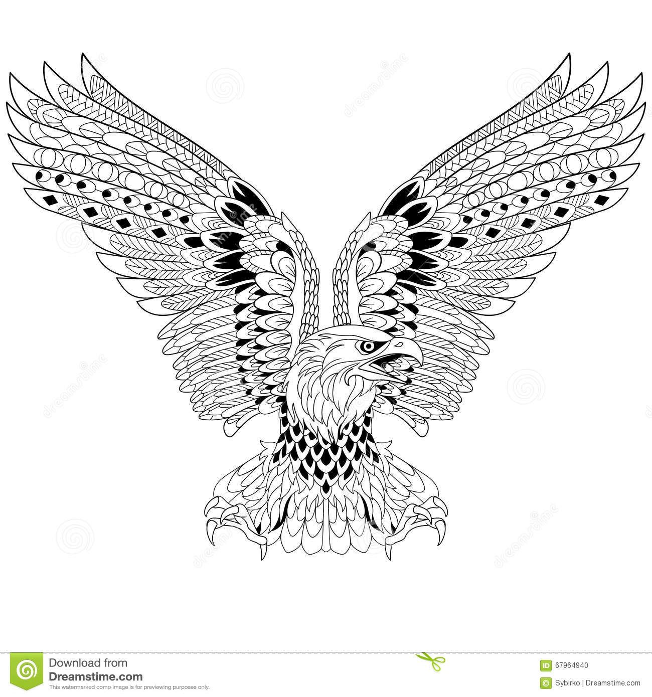 Zentangle Stylized Eagle Download From Over 42 Million High
