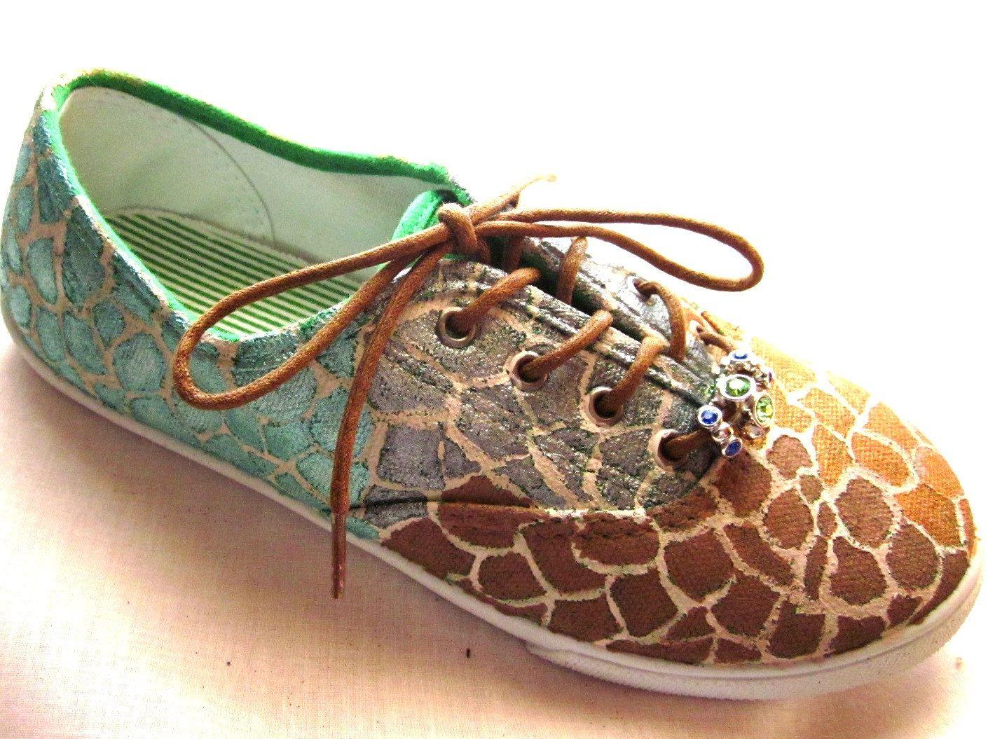 0fc31d7de28e8 Keds custom painted giraffe pattern ON SALE You choose pattern and ...