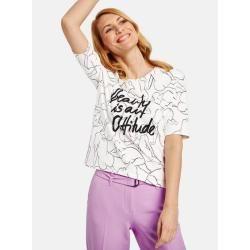 Photo of Shirt mit kunstvollem Muster organic cotton Weiß Gerry Weber