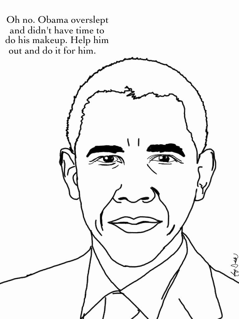 Barack Obama Coloring Pages Black History Activities Black