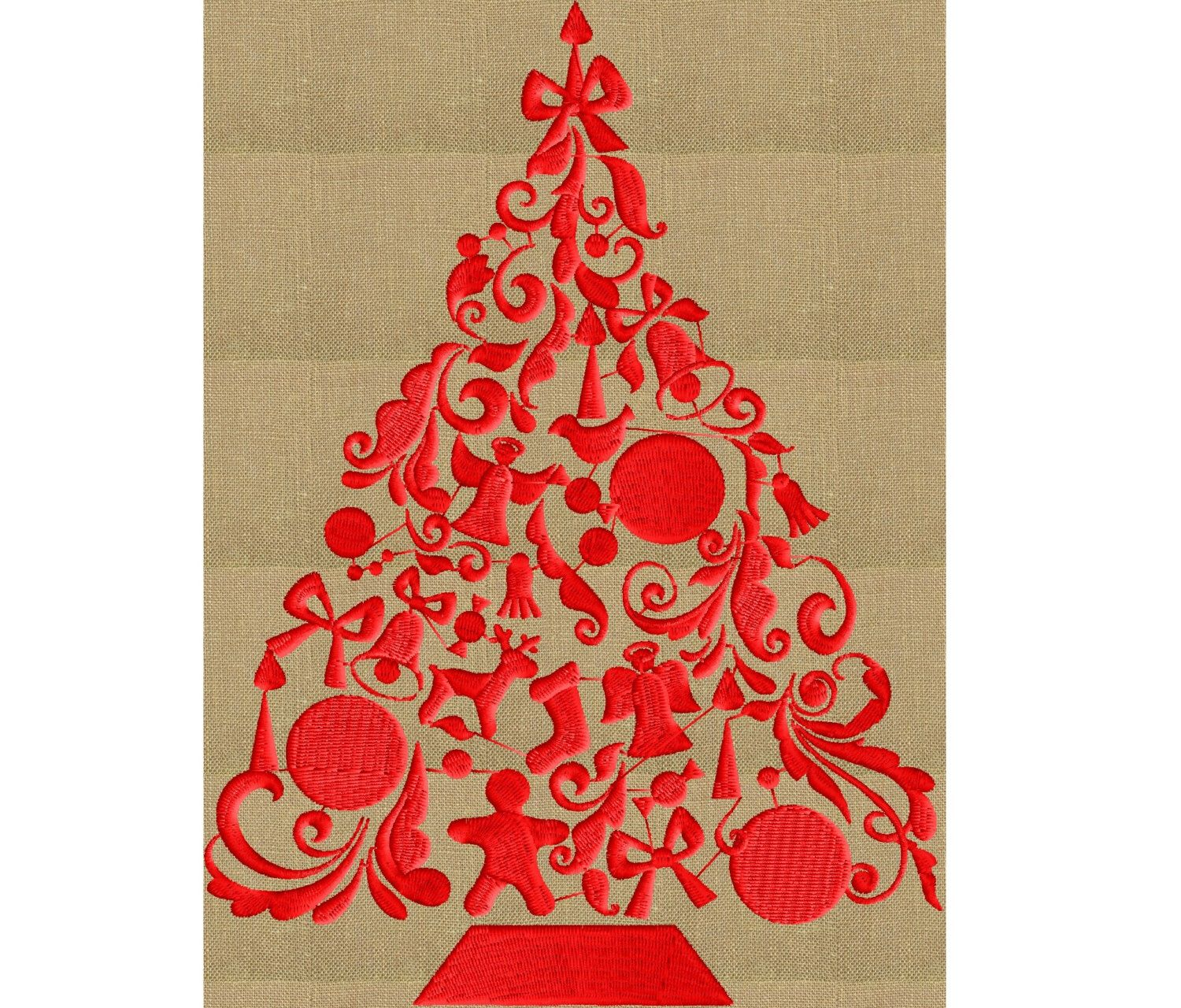 Christmas Tree EMBROIDERY DESIGN FILE Instant download