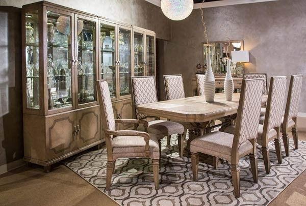AICO Furniture   Tangier Coast 11 Piece Rectangular Dining Room Set    9080002 100