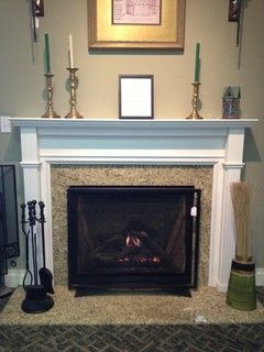 Direct Vent Gas Fireplace And Wood Mantel Traditional Fireplaces New York By Kjb Fireplaces Traditional Fireplace Fireplace Brick Fireplace