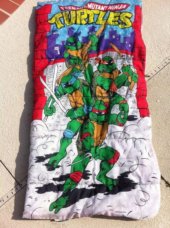 Age Mutant Ninja Turtles Sleeping Bag By Kawaiigothvintage 28 00