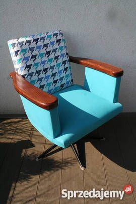 Fotel Obrotowy Prl Renowacji Design Vintage Lata Komorniki Meble
