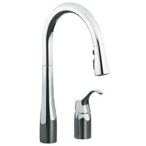 kohler k647 cp simplice pull out spray kitchen faucet polished rh pinterest com