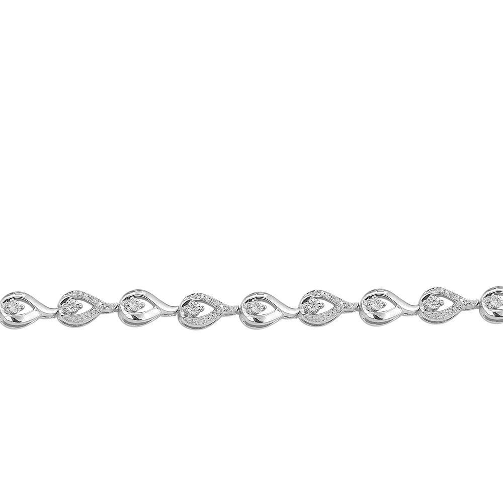 Womens solid k white gold ct real natural diamond tennis