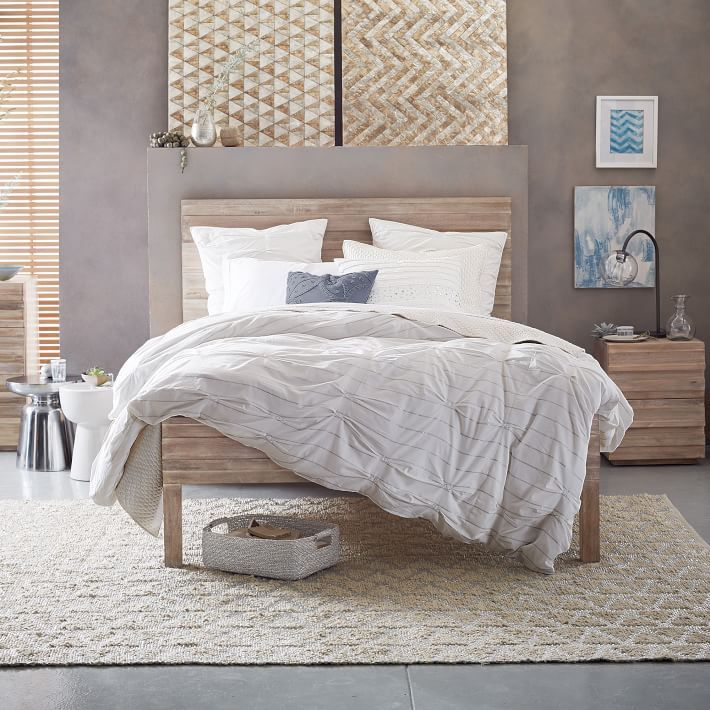 dream master bedroom%0A Bring a little shimmer to the bedroom  Crafted with dressmaker details  our  cotton duvet