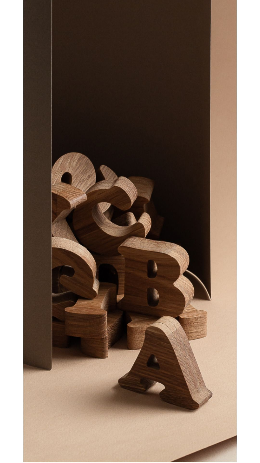 Big Wooden English alphabet by HappyTreeStore. Wood alphabet set ...