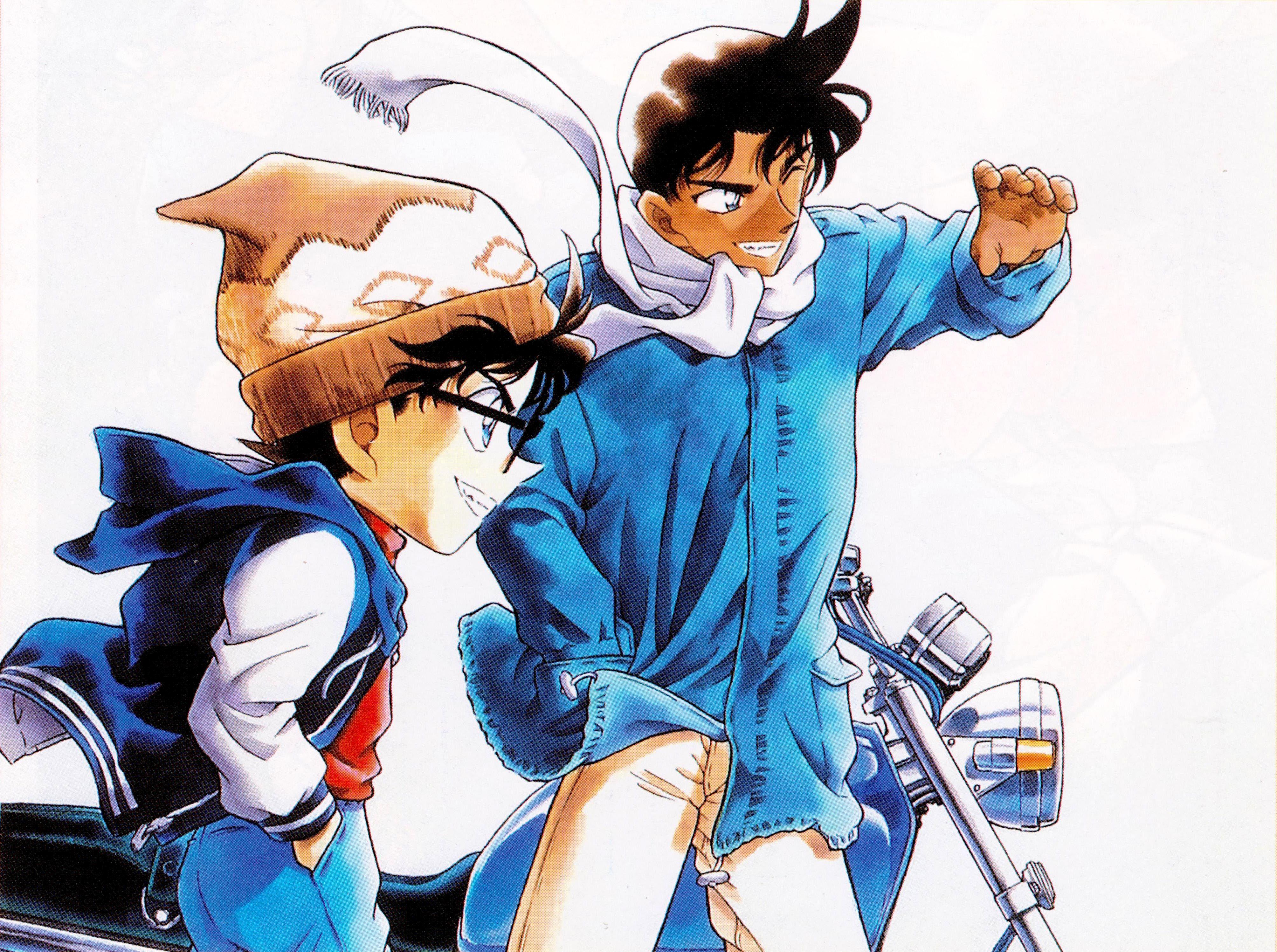 Edogawa Conan and Hattori Heiji on Detective Conan Anime
