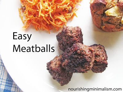 Easy Meatballs Meatballs Easy Food Real Food Dinner