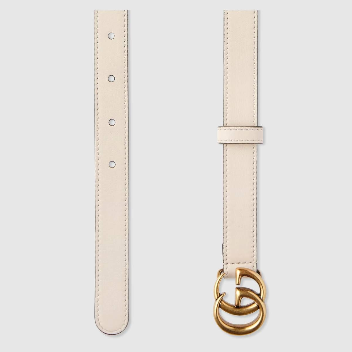 4c94ab69ba3 Leather belt with Double G buckle